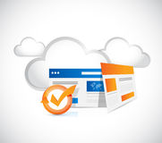 Web technology browser and cloud computing Royalty Free Stock Images