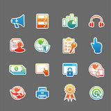 Web technology color icon set Royalty Free Stock Photography