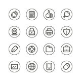 Web technology and media icons Royalty Free Stock Images