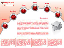 Web template 15. Red template for the web Stock Photo