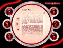 Web template 3 Royalty Free Stock Photo