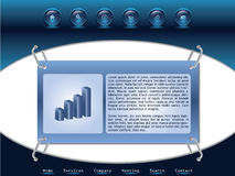 Web template 4. New template for the web Royalty Free Stock Images