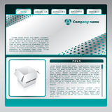 Web template 5. Template design for the web Stock Photography