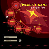 Web template Royalty Free Stock Photography