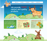 Web template for agricultural business Royalty Free Stock Images