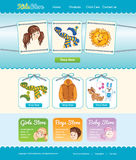 Web template for baby shop Stock Images