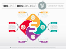 Web Template of the business development strategy. Circle diagra Royalty Free Stock Photos