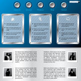 Web template with business man profiles Royalty Free Stock Images
