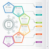 Web Template of a chart, diagram or presentation. Part of the re Stock Photography