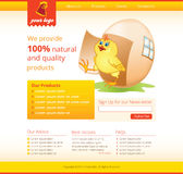 Web template with chicken Stock Images