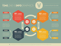 Web Template for circle diagram or presentation. Business concep Stock Image