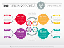 Web Template for circle diagram or presentation. Business concep Royalty Free Stock Photos