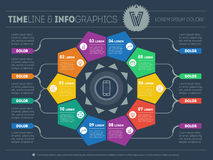 Web Template for circle diagram or presentation. Business concep Stock Images
