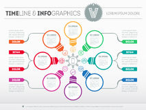 Web Template for circle diagram or presentation with icons and s vector illustration