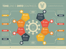 Web Template of a circle infochart, diagram or presentation. Par Royalty Free Stock Images