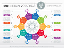 Web Template for circle infographic, diagram or presentation. Bu Royalty Free Stock Images