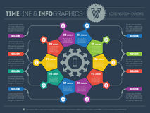 Web Template for circle infographic, diagram or presentation. Bu Stock Photo