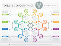 Web Template for circle infographic, diagram or presentation. Bu Royalty Free Stock Image
