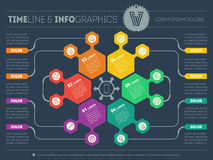Web Template for circle infographic, diagram or presentation. Bu Royalty Free Stock Photography