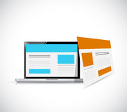 Web template computer browser Stock Images