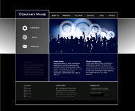 Web template design Stock Image