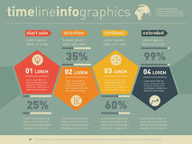 Web Template of diagram or presentation. Business concept with f Royalty Free Stock Photography