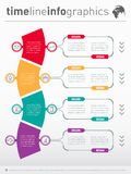 Web Template for diagram or presentation. Business concept with Stock Image