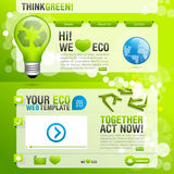Web template with ecological theme Royalty Free Stock Photo