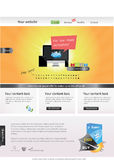 Web template. Editable web template with symbols Stock Photo