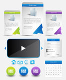 Web template elements Royalty Free Stock Image