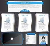 Web template elements Stock Photos