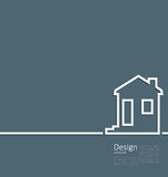 Web template house logo in minimal flat style cleaness line Royalty Free Stock Photography