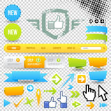 Web Template Icon and Arrows Stock Photo