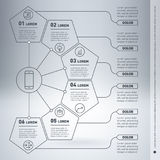 Web Template of a infographic, chart, diagram or presentation ma Stock Image