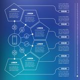 Web Template of a infographic, chart, diagram or presentation ma Royalty Free Stock Image