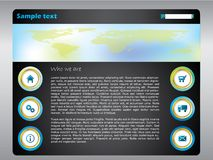 Web template with map Stock Photo
