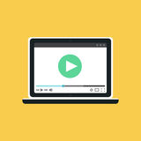 Web Template of Notebook Video Form Royalty Free Stock Photos