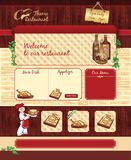 Web template for retro restaurant or cafe Royalty Free Stock Photos