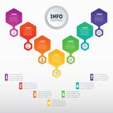 Web Template of a sales pipeline, purchase funnel, info chart, a. Nnual report or diagram. Business presentation concept with 7 options. Vector infographic of Stock Images