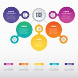 Web Template of a sales pipeline, purchase funnel, sales funnel,. Info chart or diagram. Business presentation concept with 5 options. Vector infographic of Royalty Free Stock Photo