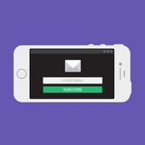 Web Template of Smartphone Email Form Royalty Free Stock Image