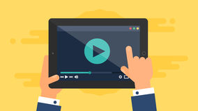 Web Template of Tablet Video Form Royalty Free Stock Image