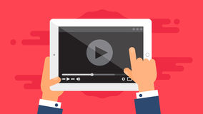 Web Template of Tablet Video Form Stock Photo