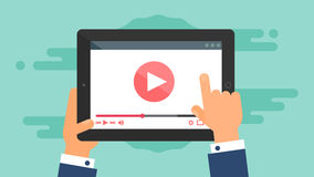 Web Template of Tablet Video Form Royalty Free Stock Images