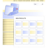 Web template - webpage office supplies Royalty Free Stock Photos