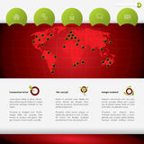 Web template with world map and details Royalty Free Stock Photo