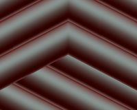 Three-dimensional composition of rubber-brown canvas. vector illustration