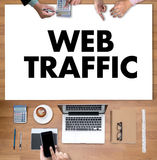 WEB TRAFFIC (business, technology, internet and networking concept ) stock image