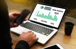WEB TRAFFIC (business, technology, internet and networking concept ) stock photo