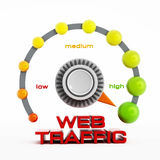 Web traffic button Royalty Free Stock Photography